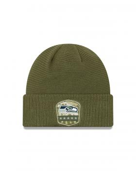 New Era - Salute to Service Knit - Seattle Seahawks olive