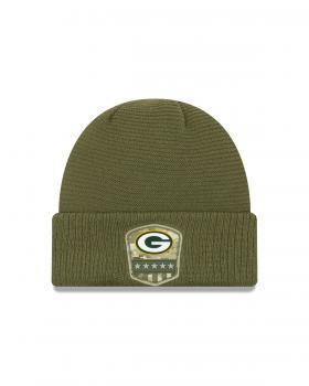 New Era - Salute to Service Knit - Green Bay Packers olive