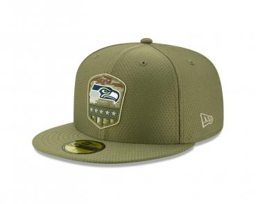 New Era - 59Fifty - Salute to Service - Seattle Seahawks olive