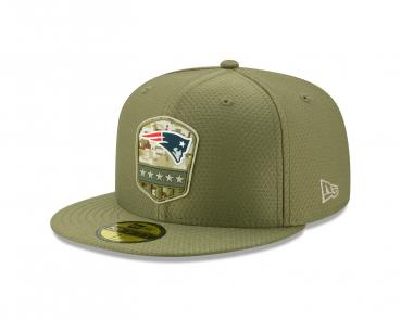 New Era - 59Fifty - Salute to Service - New England Patriots olive
