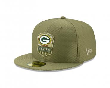 New Era - 59Fifty - Salute to Service - Green Bay Packers olive