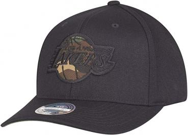 Mitchell & Ness - 110 Curved Snapback - Los Angeles Lakers black / camo