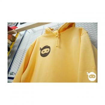 Ninjastoff - Displaced Logo Hoodie - soft peach