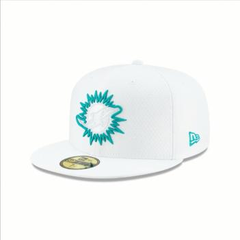 New Era - 59Fifty - Platinum Coll. - Miami Dolphins white