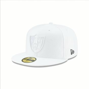 New Era - 59Fifty - Platinum Coll. - Oakland Raiders white