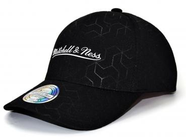 Mitchell & Ness - 110 Curved Snapback - Debossed Script black