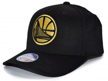 Mitchell & Ness - 110 Curved Snapback - Golden State Warriors black/gold
